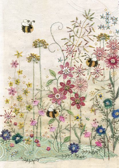 bug art A001 Bees Meadow greeting cards