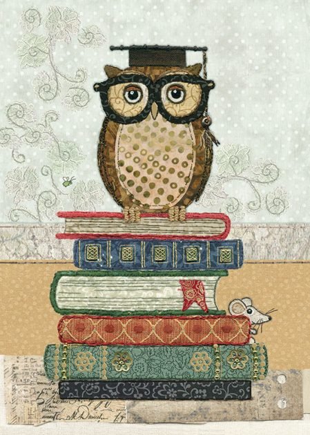 A030 Book Owl bug art
