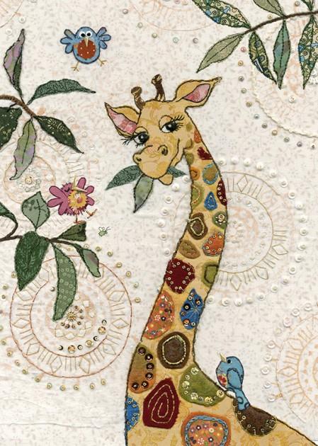 bug art A032 Giraffe greeting card