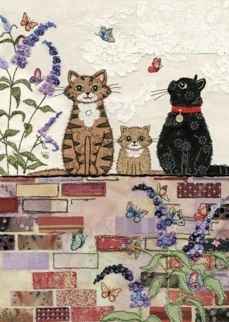 bug art A034 Cats on a Wall greeting cards