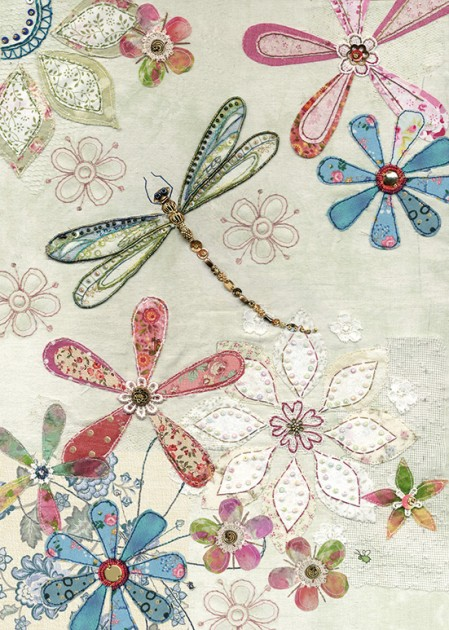 bug art A035 Floral Dragonfly