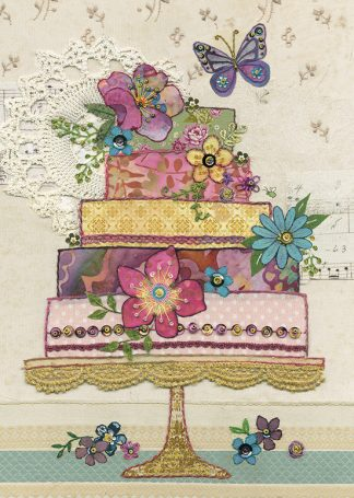 A041 Flower Cake bug art
