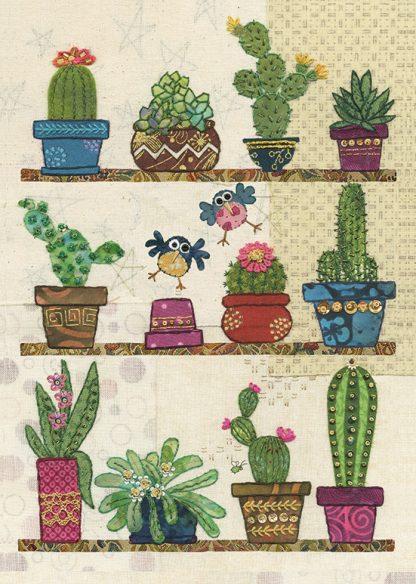 A042 Cacti Pots bug art