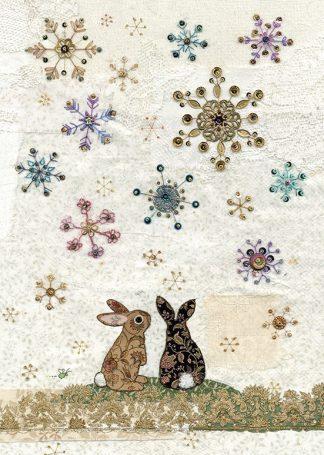 AC007 Snowflake Rabbits