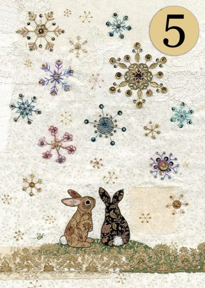 ACC007 Snowflake Rabbits 5Pack
