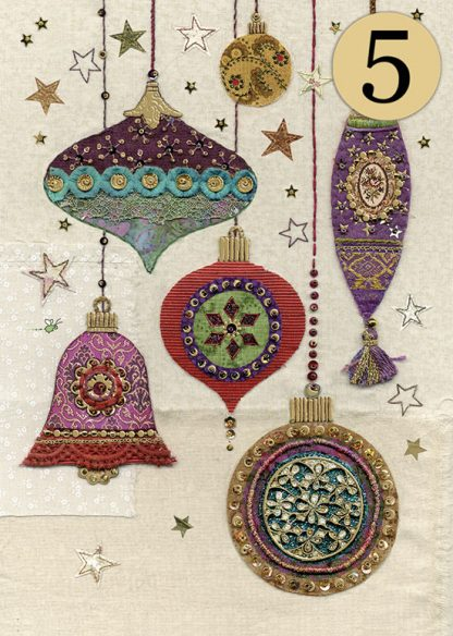 ACC008 Ornate Baubles 5Pack