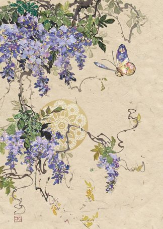 Bug Art D159 Wisteria Butterfly greetings card