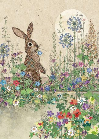 D176 Rabbit Patch bug art greeting card