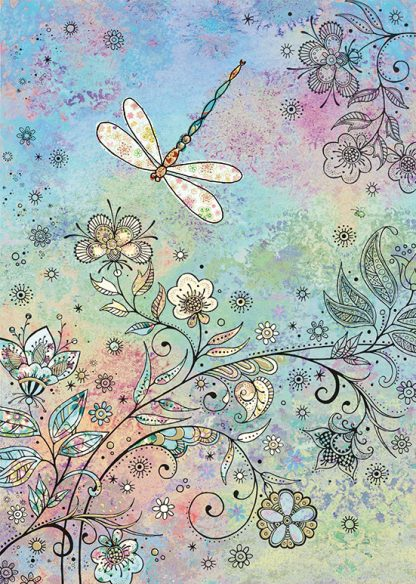 bug art E039 Dragonfly greeting card