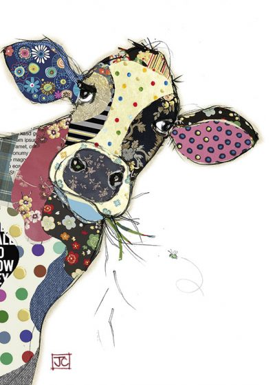 G006 Connie Cow bug art greeting card