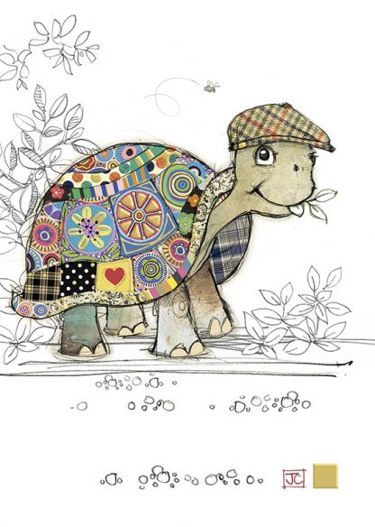 G007 Tommy Tortoise bug art greeting card