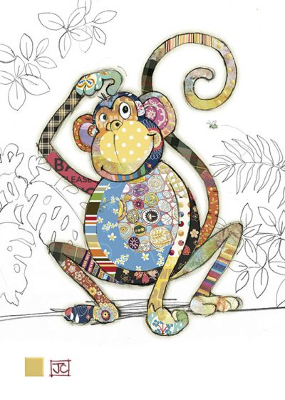 G008 Monty Monkey bug art greeting cards