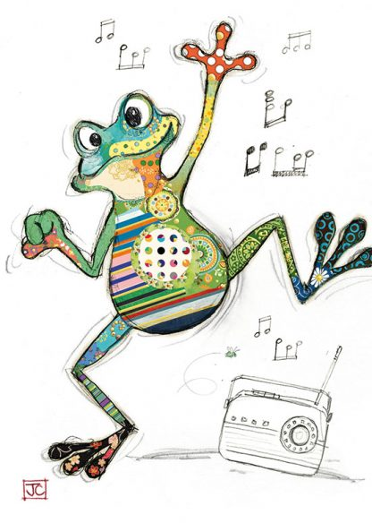 G009 Freddy Frog bug art greeting card