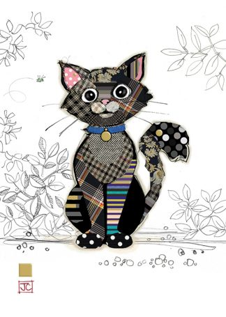 G014 Kasper Kitten bug art greeting card