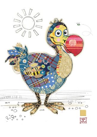 G015 Derek Dodo bug art greeting card