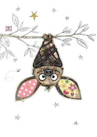 G016 Boris Bat bug art greeting card