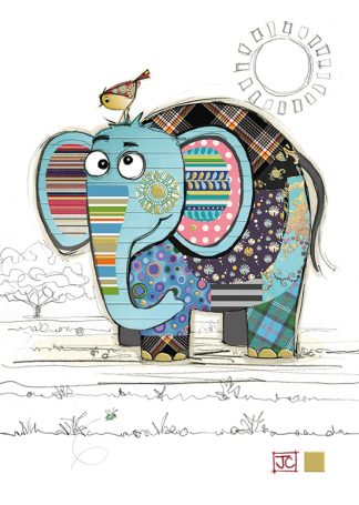 G020 Eric Elephant bug art greeting card