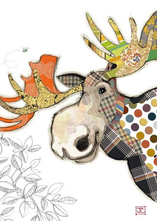 G022 Malcolm Moose bug art greeting card