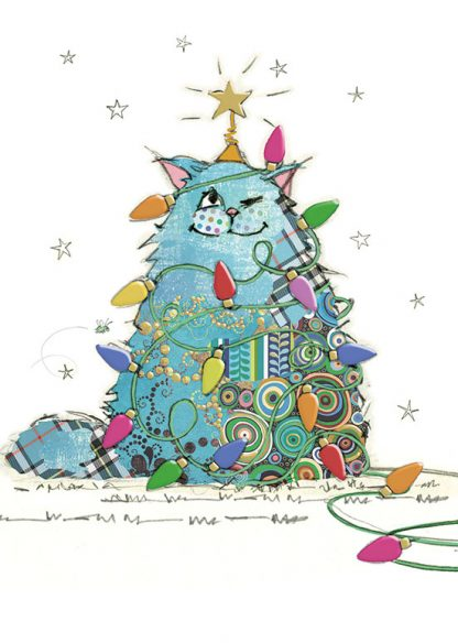 GC002 Cat Tree bug art greeting card