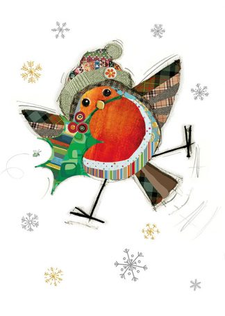 GC004 Robin Holly bug art greeting card
