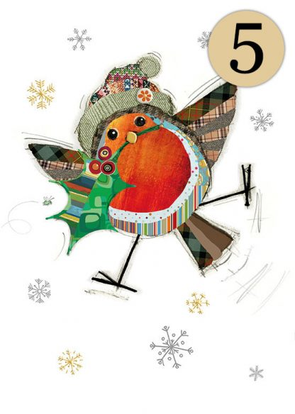 GC004 Robin Holly 5-pack bug art greeting card