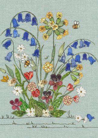 J010 Bluebells bug art greeting card