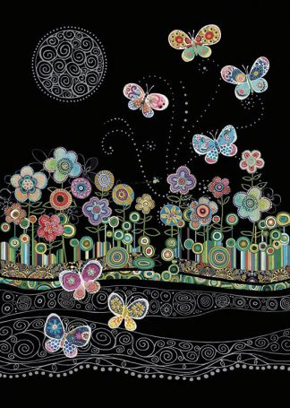 bug art M142 Butterflies & Flowers