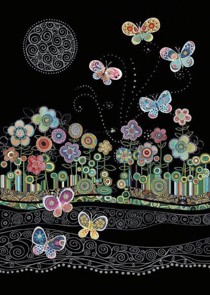 bug art M142 Butterflies & Flowers