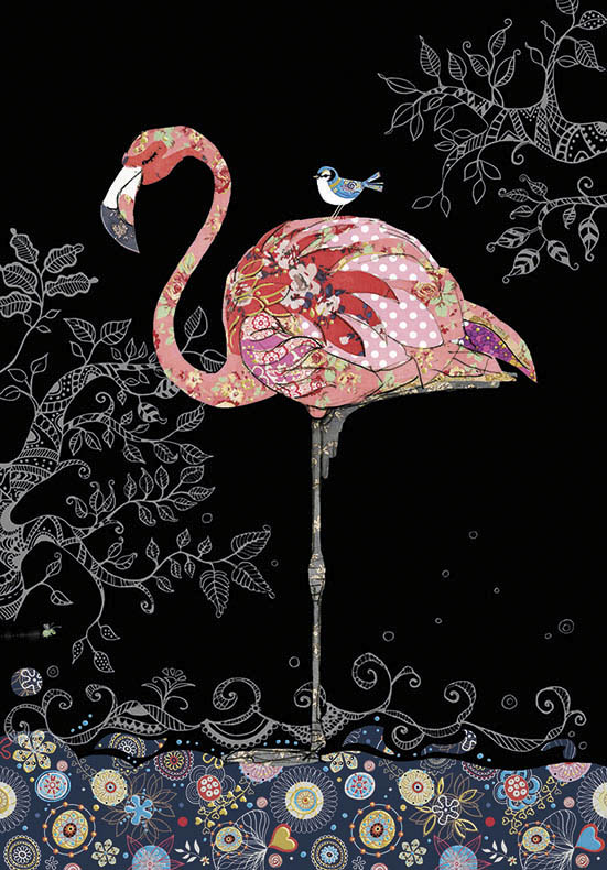 bug art M143 Pink Flamingo