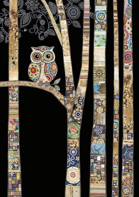 bug art M147 Owl Birch