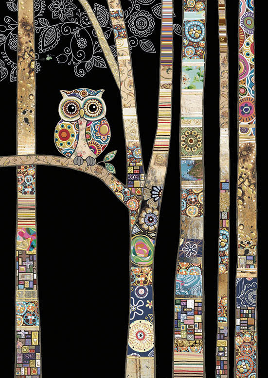 bug art M147 Owl Birch