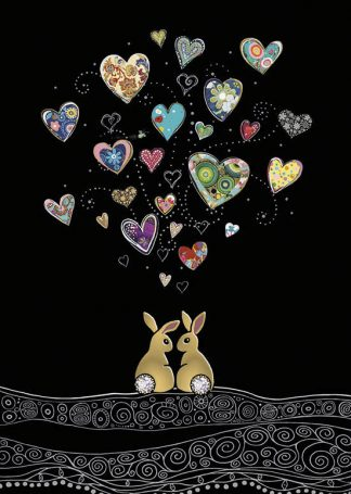 bug art M149 Love Bunnies