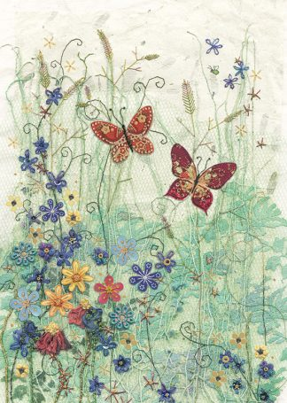 Bug Art a010 Blue Meadow greetings card