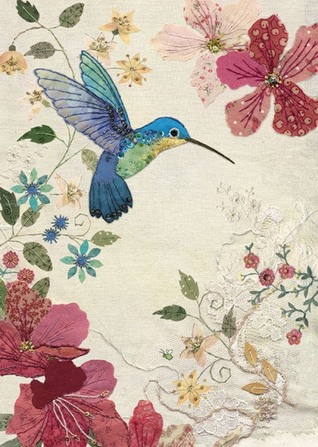 Bug Art a016 Azalea Hummingbird greetings card