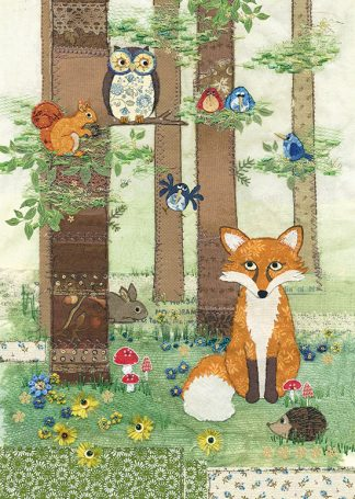 Bug Art a018 Woodland Fox greetings card