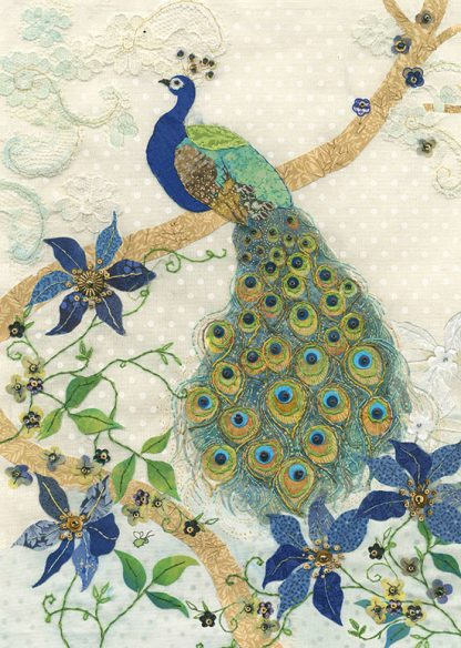 Bug Art a020 Clematis Peacock greetings card