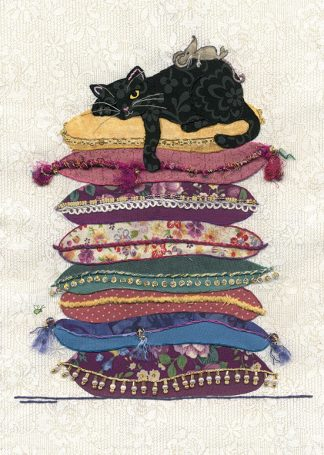 Bug Art a022 Cat Cushions greetings card