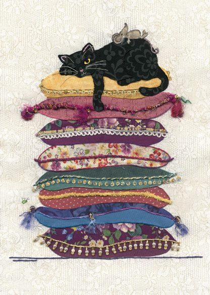 Bug Art a022 Cat Cushions greetings card