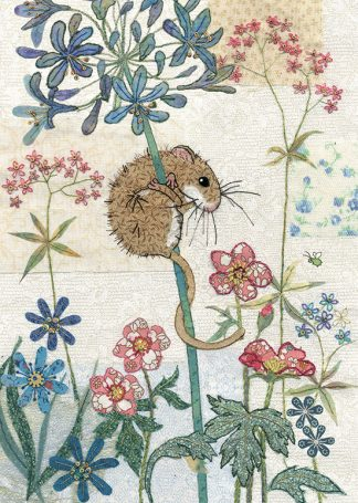 Bug Art a023 Harvest Mouse greetings card
