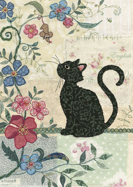Bug Art a024 Cat and Mouse greetings card