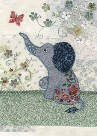 Bug Art a026 Little Elephant greetings card