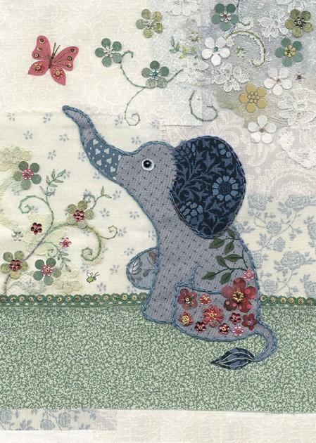 Bug Art a026 Little Elephant greetings card