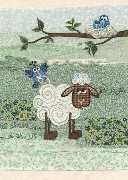 Bug Art a028 Nest Wool greetings card