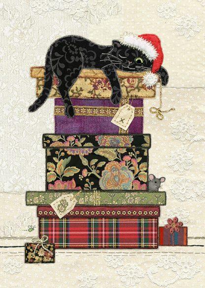 Bug Art ac001 Cat Presents greetings card