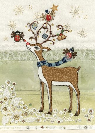 Bug Art ac002 Rudolph's Adornment greetings card
