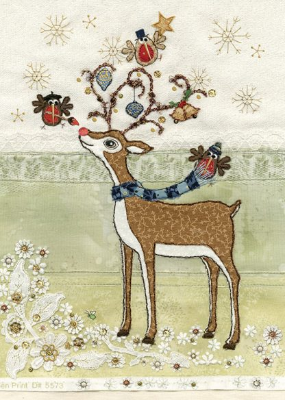 Bug Art ac002 Rudolph's Adornment greetings card