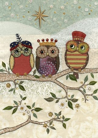 Bug Art ac003 Three Wise Owls greetings card