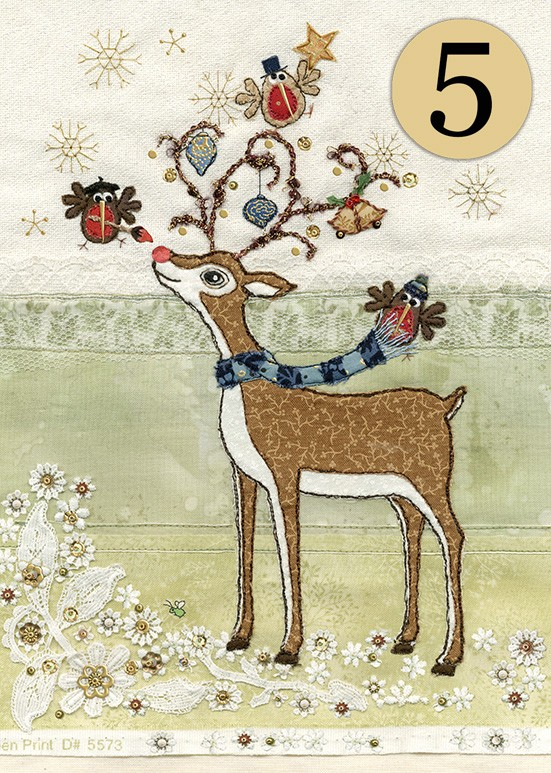 Bug Art acc002 rudolphs adornment greeting card