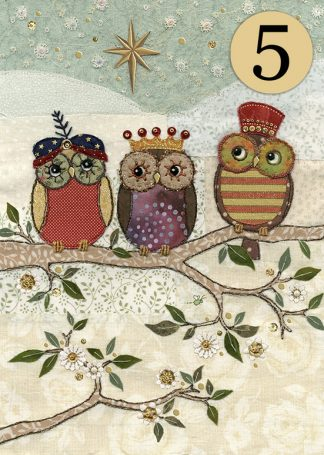 Bug Art acc003 three wise owls greeting card