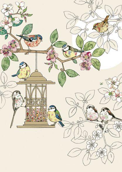 Bug Art B010 Bird Feeder greetings card